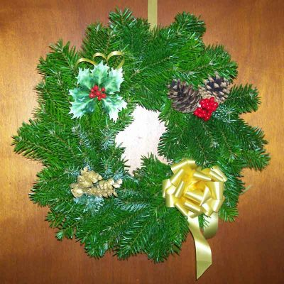 Decorated Christmas Tree Wreath