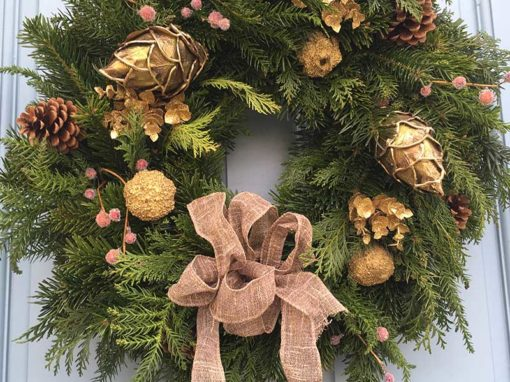 12 Inch Gold Christmas Wreath