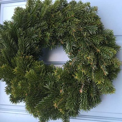 12 Inch Undecorated Nordman Wreath