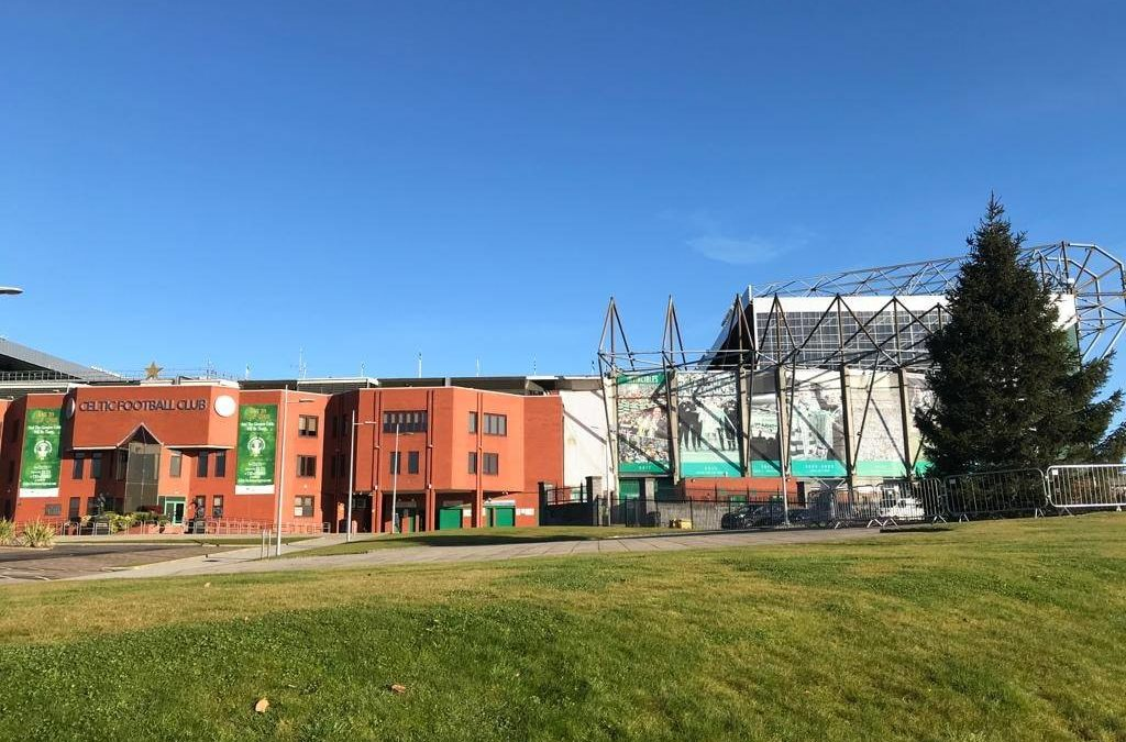 Real Christmas Tree delivered to Celtic Park in Glasgow